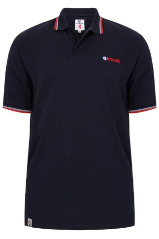 LAMBRETTA Navy Short Sleeve Polo Shirt