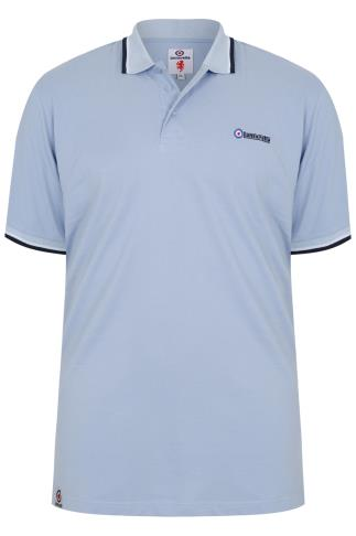 LAMBRETTA Sky Blue Short Sleeve Polo Shirt