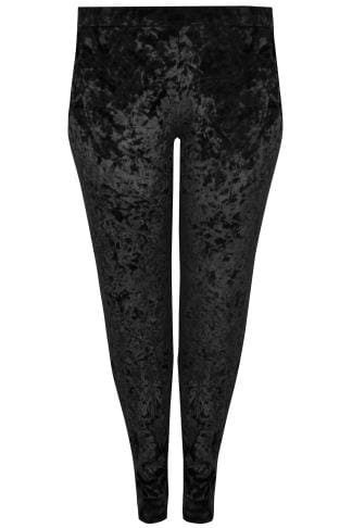 Joggers LIMITED COLLECTION Black Crushed Velvet Joggers 210282
