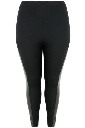 LIMITED COLLECTION Black Jeggings With PU Panels