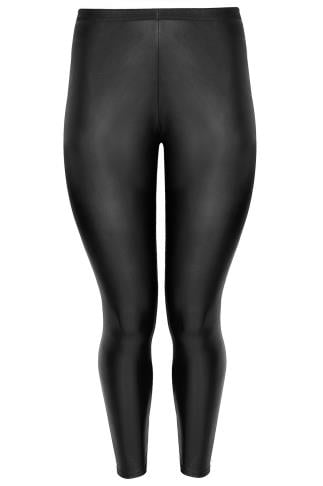 LIMITED COLLECTION Black Leather Look PU Leggings