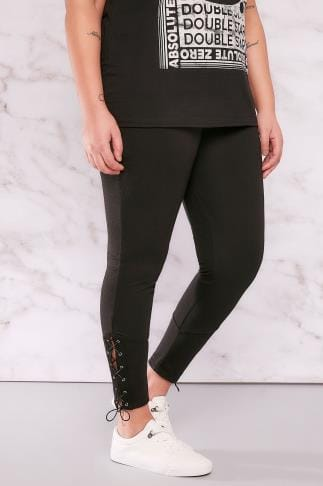 Jeggings LIMITED COLLECTION Black Jeggings With Eyelet Detail 210102