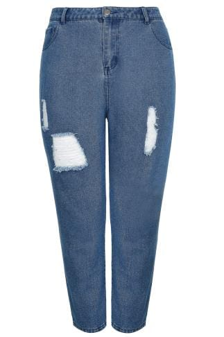LIMITED COLLECTION Blue Distressed Mom Jeans