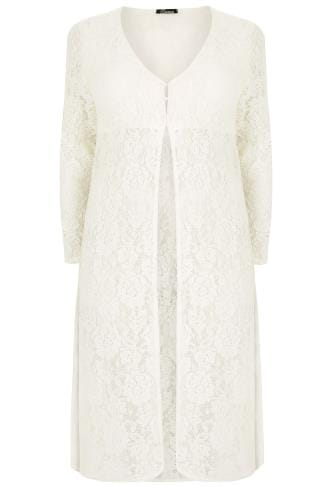 LIMITED COLLECTION Cream Lace Maxi Cover Up