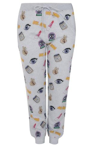 "LIMITED COLLECTION Grey & Multi ""Girl Gang"" Joggers"