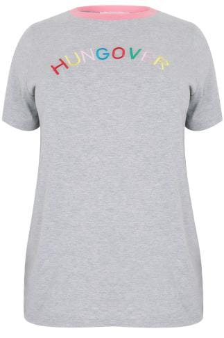 "LIMITED COLLECTION Grey & Multi ""Hungover"" Top"
