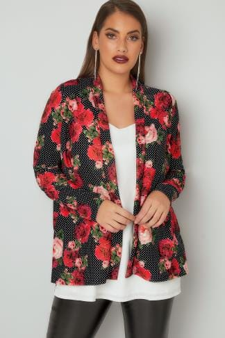 Jackets LIMITED COLLECTION Multi Polka Dot & Floral Print Jacket 210249