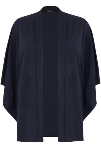 LIMITED COLLECTION Navy Kimono Sleeve Jacket