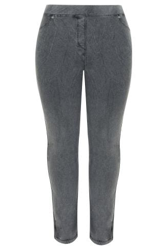 Jeggins LIMITED COLLECTION Washed Dark Grey Jeggings 210207