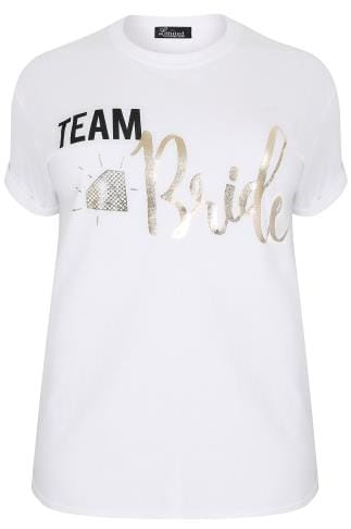 "LIMITED COLLECTION White ""Team Bride"" Foil Print Top"