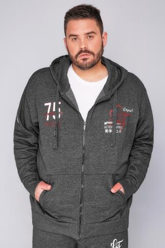LOYALTY & FAITH Charcoal Zip- Up Hoodie
