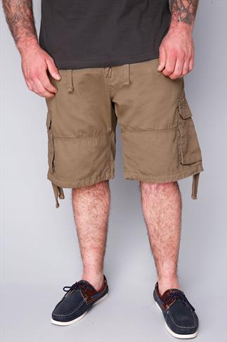 LOYALTY & FAITH Sand Cargo Shorts With Draw-Ties And Pockets
