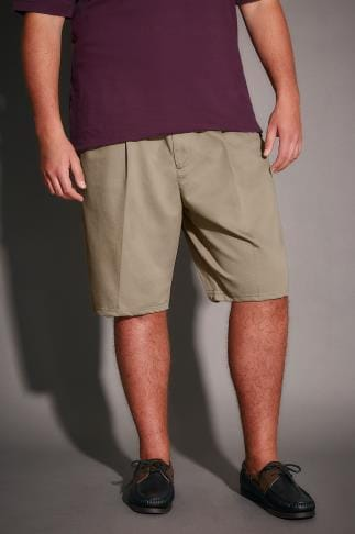 Chino Shorts Light Brown Chino Shorts With Elasticated Waist Insert 110473