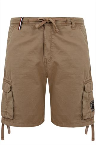 Light Brown Santa Monica Cargo Style Shorts