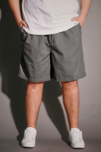 Chino Shorts Light Khaki Chino Shorts With Elasticated Waist Band 102959