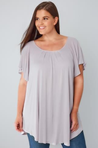 Lilac Jersey Blouse With Angel Sleeves 170149