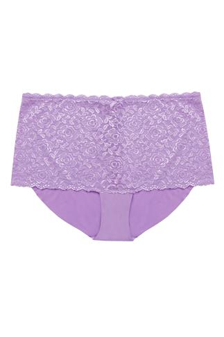 Lilac Shine Lace Shorts