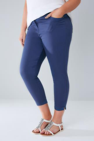 Jeggings Mid Blue Cropped Denim Jeggings 144020