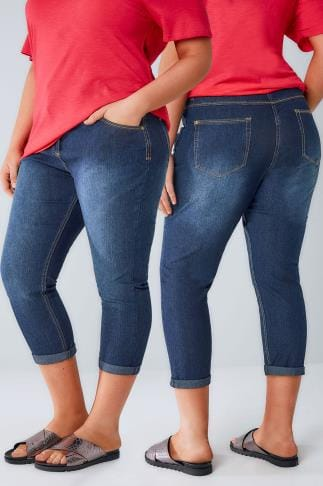 Cropped Jeans Mid Blue Denim Cropped Jeans 144019