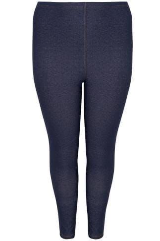 Jeggings Mid Blue Jersey Jeggings 142065