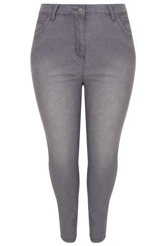 Mid Grey Basic 5 Pocket Skinny Jeans