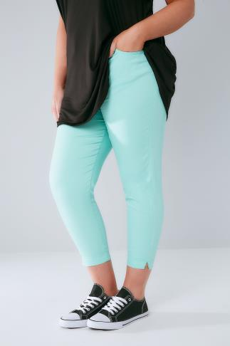 Mint Cropped Denim Jeggings 144022