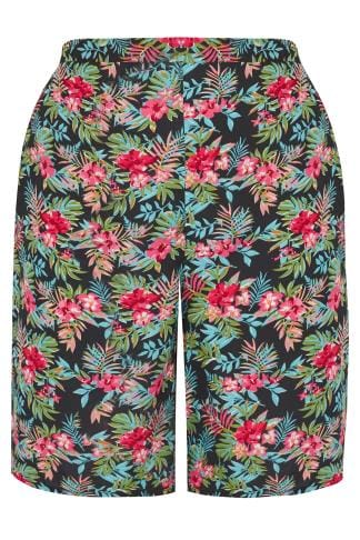 Fashion Shorts Multi Tropical Print Shorts 170387