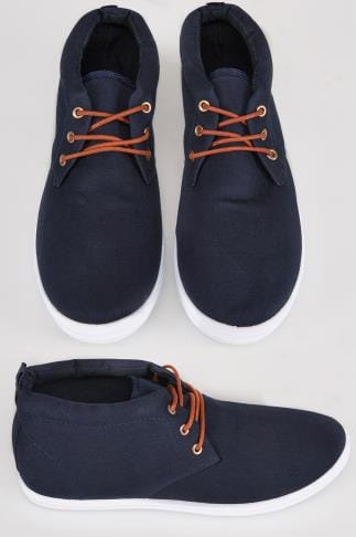 Navy Chukka Lace Up Boots