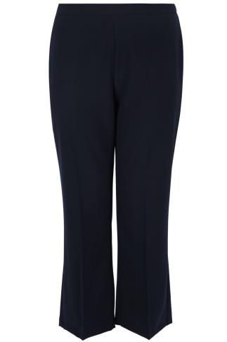 Navy Pablo Trouser With Elasticated Back