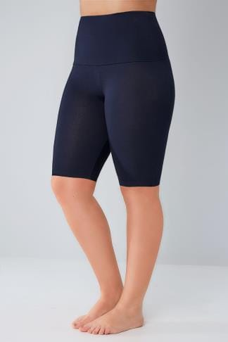Jersey Shorts Navy TUMMY CONTROL Viscose Elastane Legging Shorts 142047
