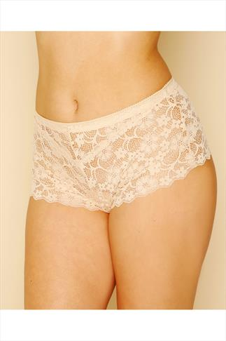 Briefs Knickers Nude Floral All Lace Short 014407