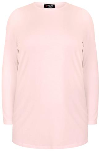 YOURS LONDON Nude Pink Long Sleeve Soft Touch Jersey Top