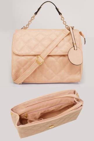 Across-The-Body Nude Quilted Cross Body Bag 152432