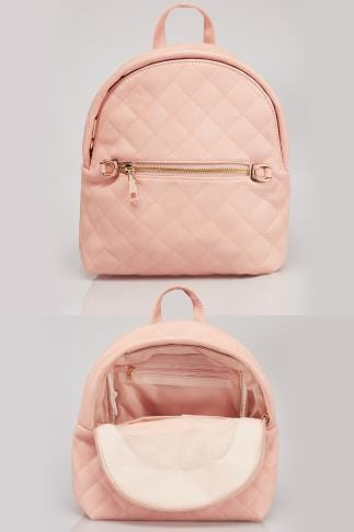 Nude Small Quilted Backpack