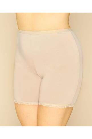 Nude Thigh Smoother Brief With Lace Detail Hem
