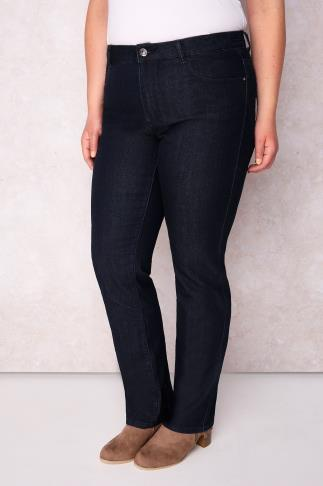"Straight Leg PAPRIKA Dark Denim Straight Leg Jeans - Long Leg 33"" 102609"