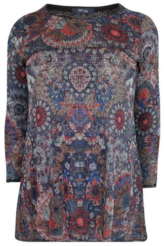 PAPRIKA Multicoloured Printed Knitted Top