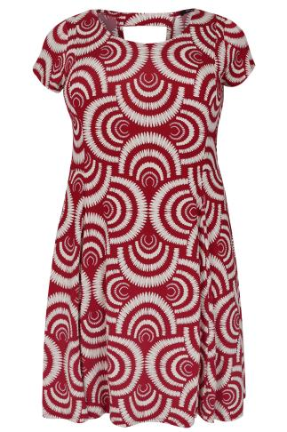 PAPRIKA Red Printed Swing Dress