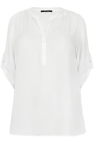 PAPRIKA White Blouse With V Neckline