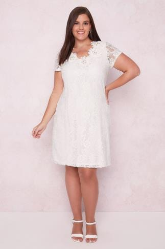 PAPRIKA White Lace Overlay Dress With Floral 138611