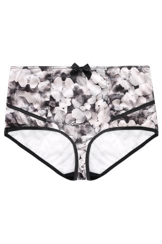 PARFAIT Grey & Black Floral Print High Waisted Charlotte Brief