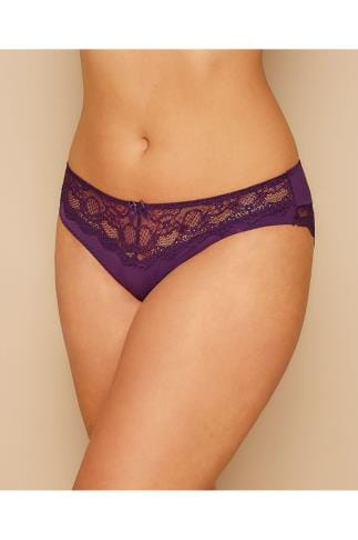 Briefs Knickers PARFAIT Purple Carole Brief With Lace Inserts 138457