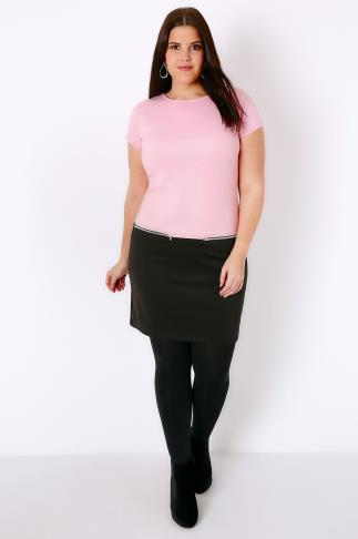 PRASLIN Black & Pink Colour Block Dress With Zip Detail