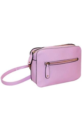 Across-The-Body Pink Camera Bag With Cross Body Chain 152437