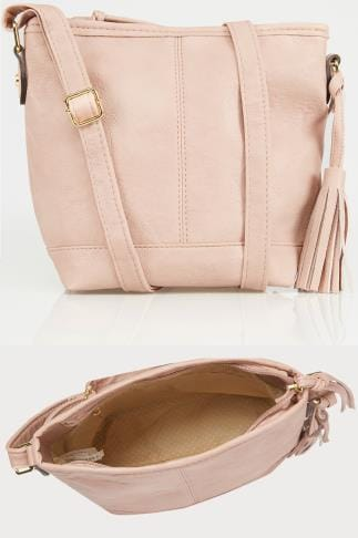 Across-The-Body Pink Cross Body Bag With Tassel Detail 152446