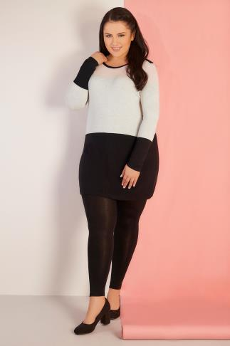 Pink, Grey & Black Colour Block Longline Jumper With Silver Shoulder Zips