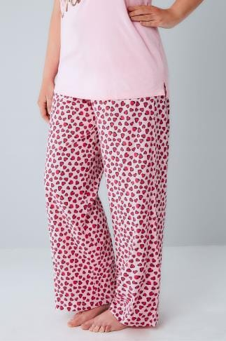 Pyjama Separates Pink Heart Print Pyjama Bottoms 148038