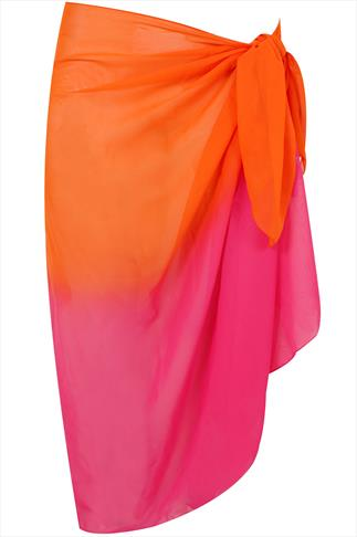 Pink & Orange Multi Print Sarong