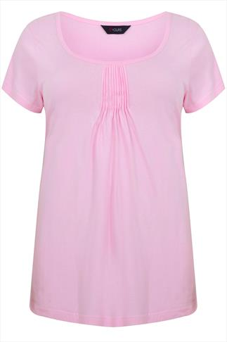 Pink Pyjama Top With Pleated Front