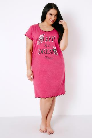 "Pink ""Sleep Less Dream More"" Nightdress"